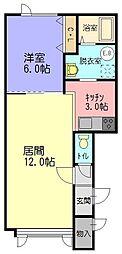 花夢II[108号室]の間取り