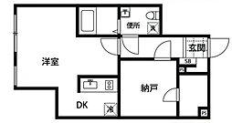 都営新宿線 曙橋駅 徒歩6分の賃貸マンション 地下1階1DKの間取り