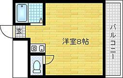 若江岩田駅徒歩10分 アイディール[203号室]の間取り