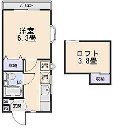 オークガーデン60A[2階]の間取り