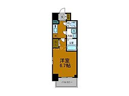 Osaka Metro千日前線 阿波座駅 徒歩9分の賃貸マンション 7階1Kの間取り