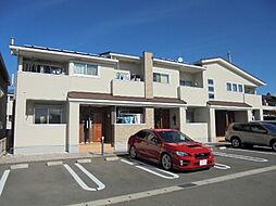 愛知県北名古屋市熊之庄城ノ屋敷の賃貸アパートの外観
