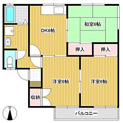 ロイヤルハイツ A棟[1階]の間取り