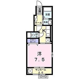 ラスパトハイツ[1階]の間取り