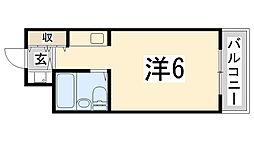 兵庫県姫路市鍵町の賃貸マンションの間取り