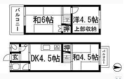 [一戸建] 大阪府箕面市半町4丁目 の賃貸【/】の間取り