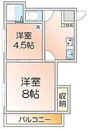第1広田マンション[5階]の間取り