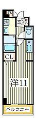 チャームテラス222W[3階]の間取り
