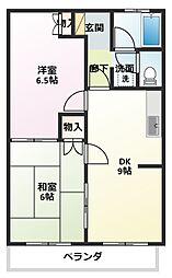サニーコート山崎[1階]の間取り