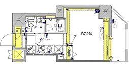 東武伊勢崎線 東向島駅 徒歩7分の賃貸マンション 1階1Kの間取り