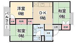 セジュール安倉B棟[1階]の間取り