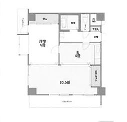 Osaka Metro千日前線 阿波座駅 徒歩3分の賃貸マンション 4階2DKの間取り