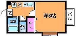 東京都調布市多摩川4丁目の賃貸アパートの間取り