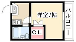 愛知県名古屋市昭和区荒田町3丁目の賃貸アパートの間取り