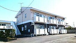 群馬県伊勢崎市富塚町の賃貸アパートの外観