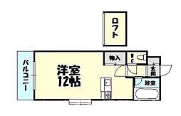福岡県糟屋郡粕屋町長者原西3丁目の賃貸アパートの間取り