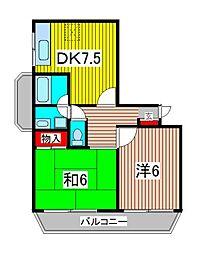 大黒屋レヂデンス[4階]の間取り