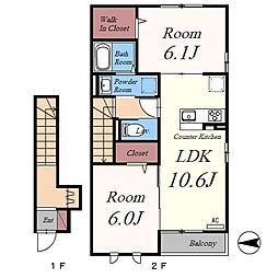 (仮)D-room氷川町[2階]の間取り