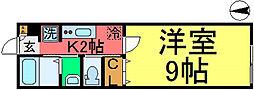 ハイツアヅミノ[202号室]の間取り