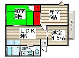 ハイツコジマ[302号室]の間取り