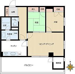 東急アルス本郷[8階部分号室]の間取り