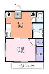 フジタマンション[2階]の間取り