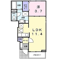 茨城県水戸市見川町の賃貸アパートの間取り