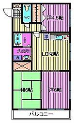 埼玉県さいたま市大宮区大成町1丁目の賃貸マンションの間取り