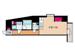 JR東海道・山陽本線 摩耶駅 徒歩9分の賃貸マンション 6階ワンルームの間取り