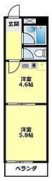 愛知県豊田市昭和町4丁目の賃貸マンションの間取り