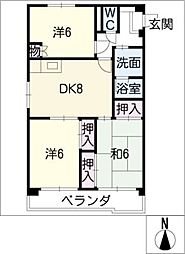 ハイツ小幡[5階]の間取り