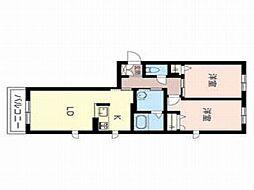 ブレセッド メゾン[3階]の間取り