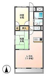 LONE STAR茶屋ヶ坂(ローンスター)[4階]の間取り