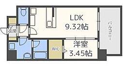 URBANIII 7階1LDKの間取り