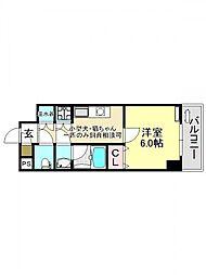 KWplace平野(プレイス平野)[6O6号室号室]の間取り