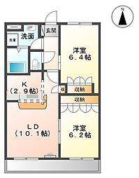 サンタモニカ・長良[1階]の間取り