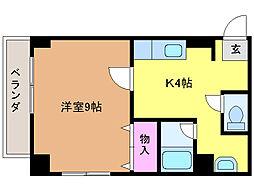 愛媛県松山市立花2丁目の賃貸マンションの間取り