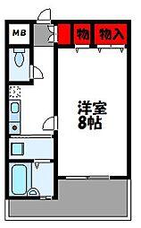 福岡県古賀市天神4丁目の賃貸アパートの間取り