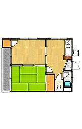 くらしまマンション[3階]の間取り