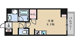 エスパシオ・コモド大阪新町[505号室]の間取り