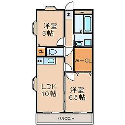 愛知県名古屋市中村区本陣通6丁目の賃貸マンションの間取り