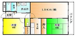 メゾンDEコンフォール[2階]の間取り