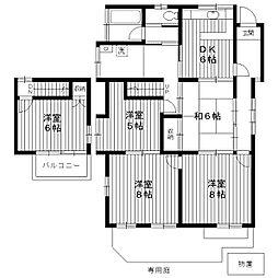 [一戸建] 東京都練馬区中村南3丁目 の賃貸【/】の間取り