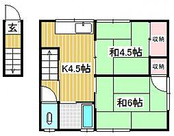 大福荘[8号室号室]の間取り