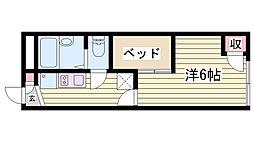 JR東海道・山陽本線 明石駅 バス15分 有瀬橋下車 徒歩2分の賃貸アパート 1階1Kの間取り