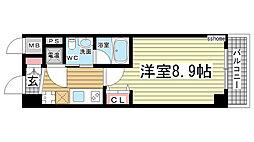 兵庫県神戸市灘区日尾町1丁目の賃貸マンションの間取り