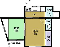 モトマチマンション[4階]の間取り