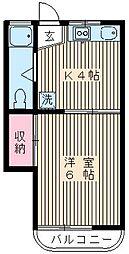219−シャトー若宮[302号室]の間取り
