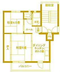 東本郷第1 8号棟[5階]の間取り