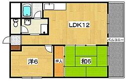 シャトー東[4階]の間取り